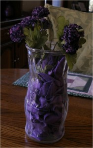 Purple Balloon Vase