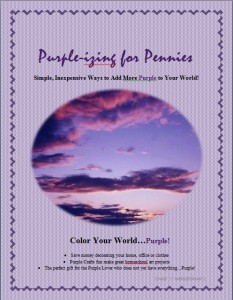 Purple-izing for Pennies Cover