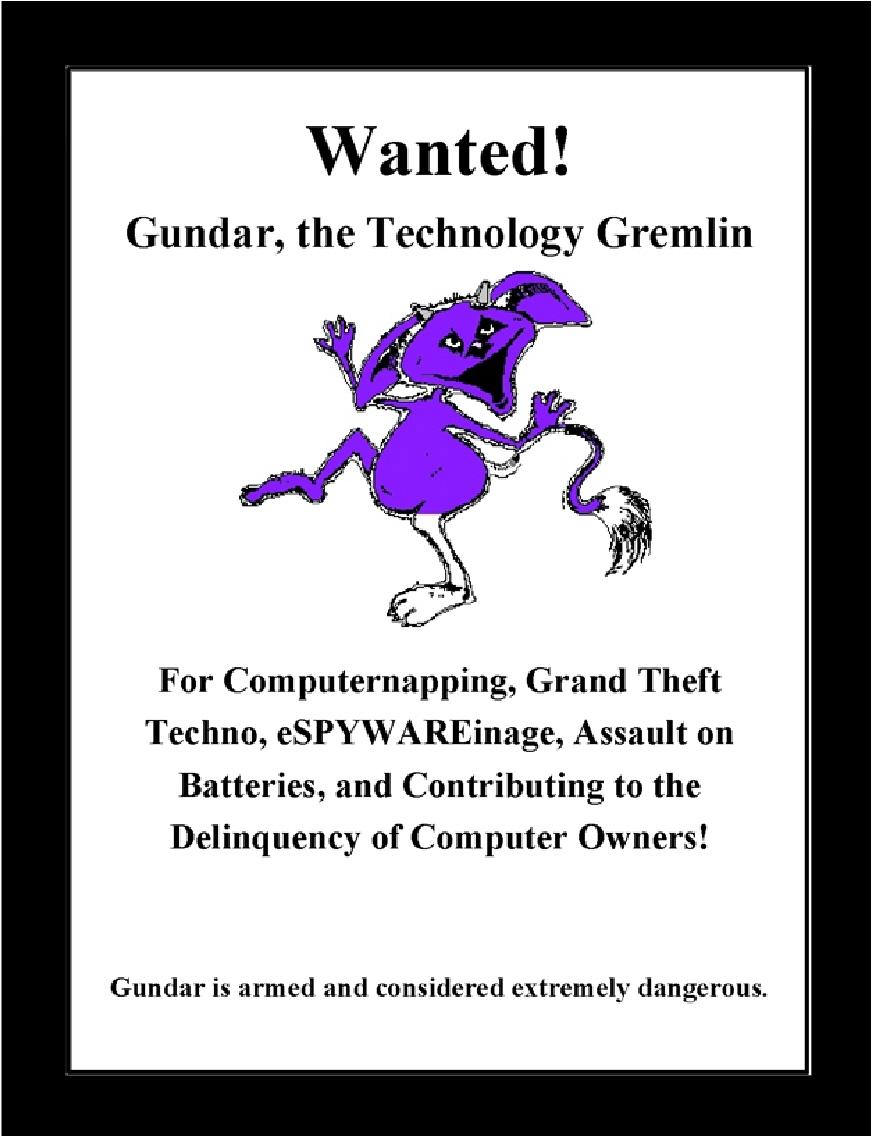 Gundar Wanted Poster