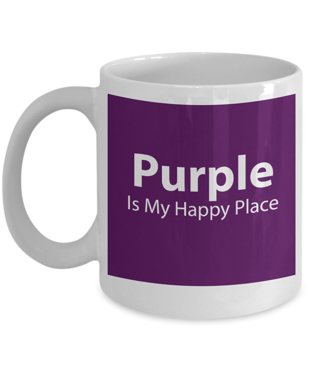 Purple is My Happy Place Mug Now Available for a Limited Time!